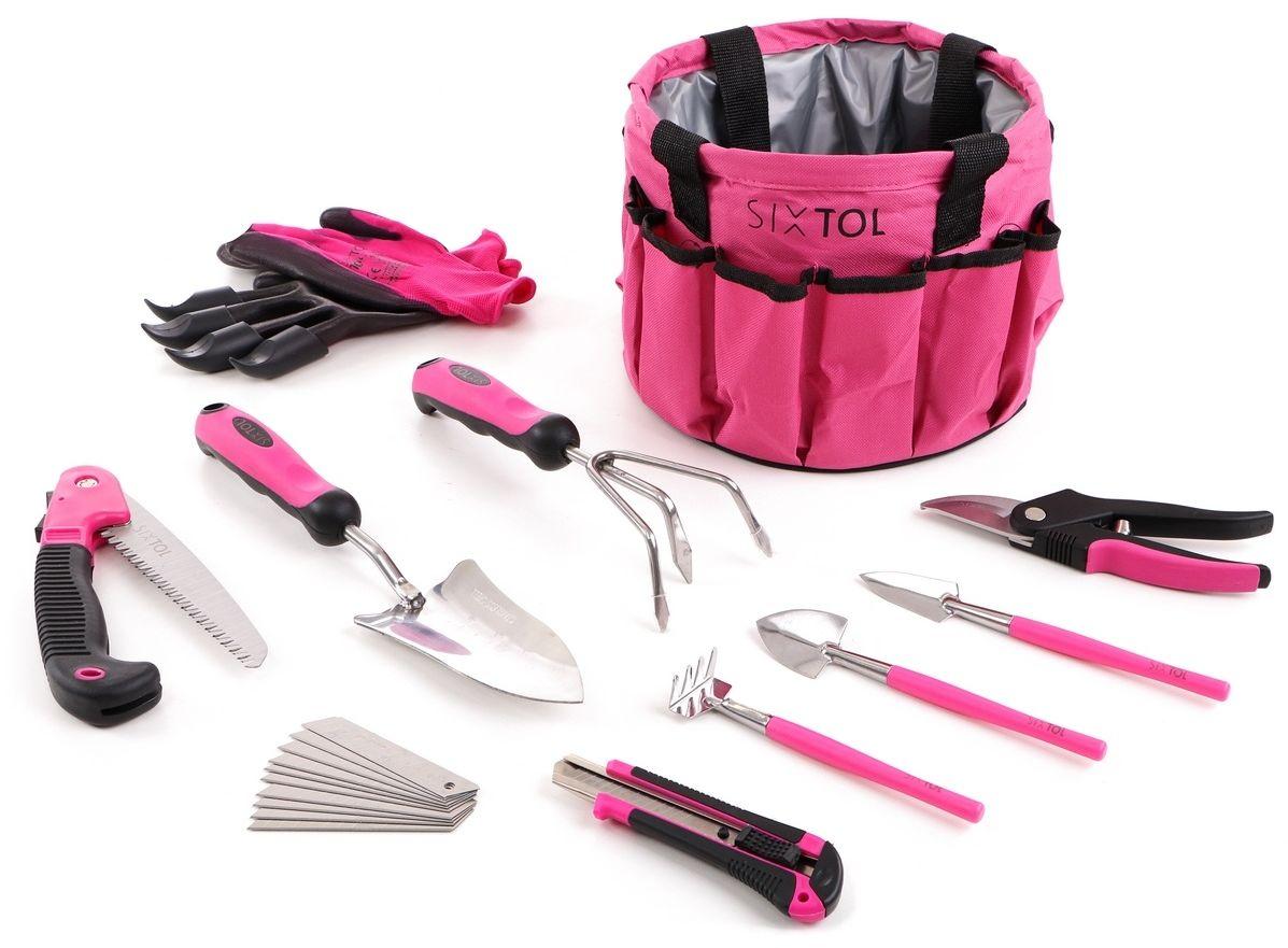 Sixtol Zestaw narzędzi ogrodniczych Garden pink, 10 elem.