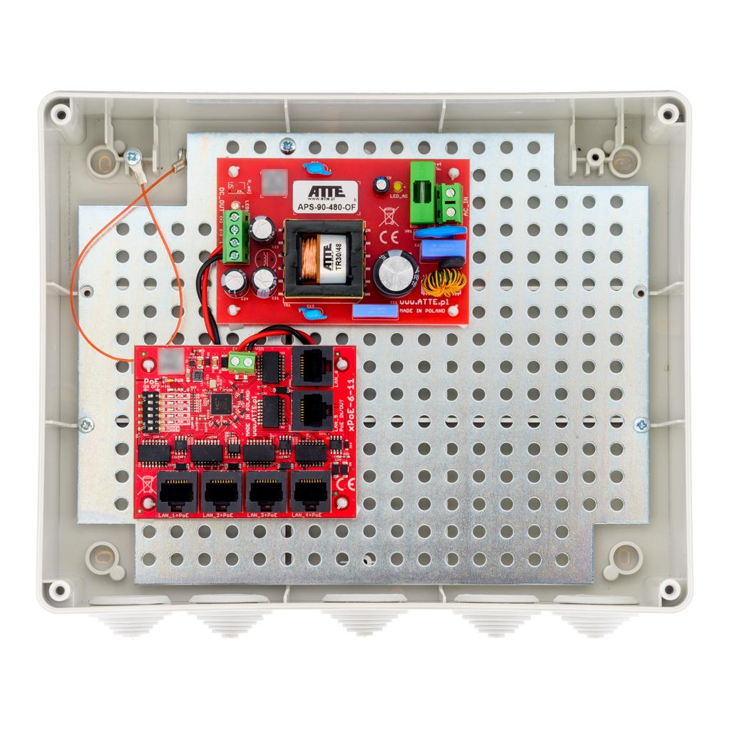 Zestaw do 5 kamer ip switch poe 5p+1up atte ip-5-11-l3 - szybka dostawa lub możliwość odbioru w 39 miastach