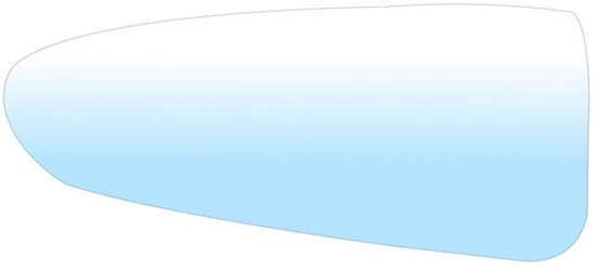 wkład lusterka mały / sferyczny Ford Transit Custom - L oryginał