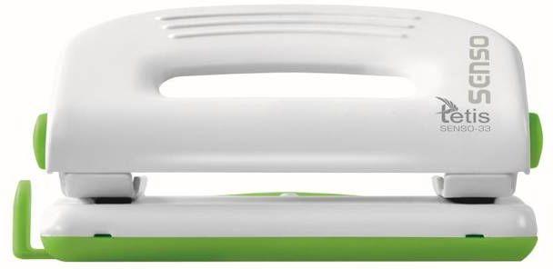 Dziurkacz Tetis metalowy zielony 10 arkuszy