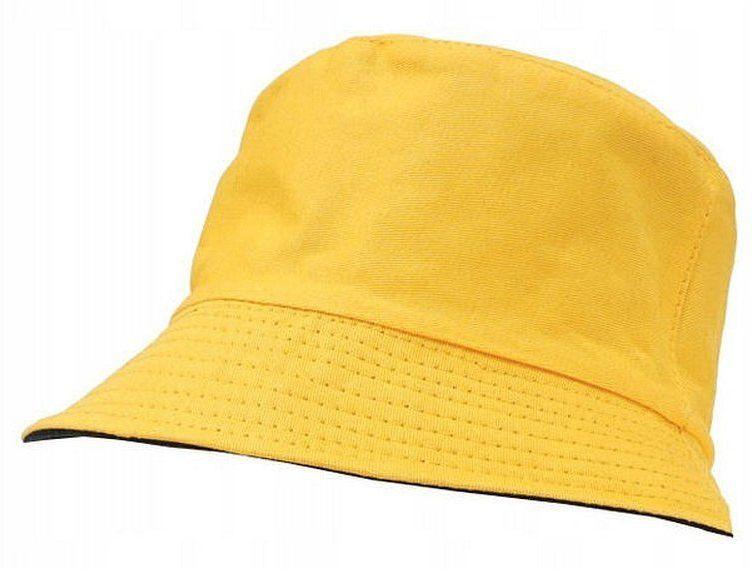 Żółto-Czarny Dwustronny Kapelusz Rybacki, 100% Bawełna, Czapka Rybaczka, Wędkarski -Pako Jeans CPAPJNSKAPELUSZ35zt
