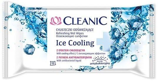 Cleanic ice cooling chusteczki odświeżające 15 sztuk