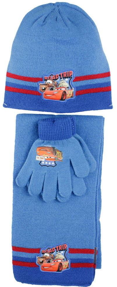 Komplet chłopięcy czapka, rękawiczki i szalik AUTA (Cars)