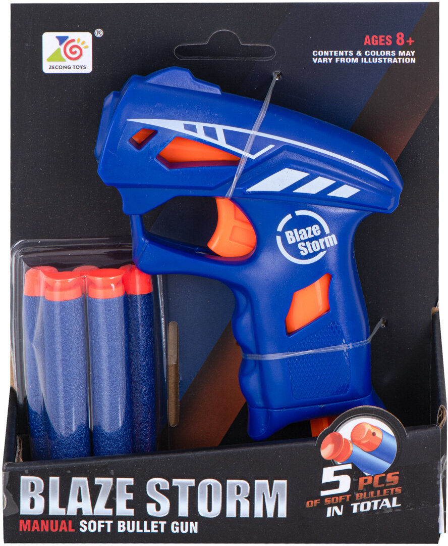 Wyrzutnia pistolet Blaze Storm + 5 strzałek do NERFA