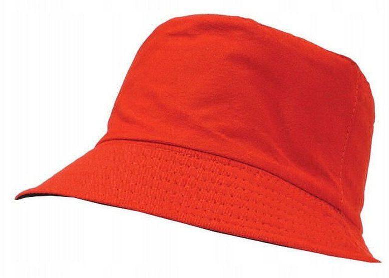 Czerwono-Czarny Kapelusz Rybacki, 100% Bawełna, Czapka Rybaczka, Wędkarski -Pako Jeans- Dwustronny CPAPJNSKAPELUSZ35cr