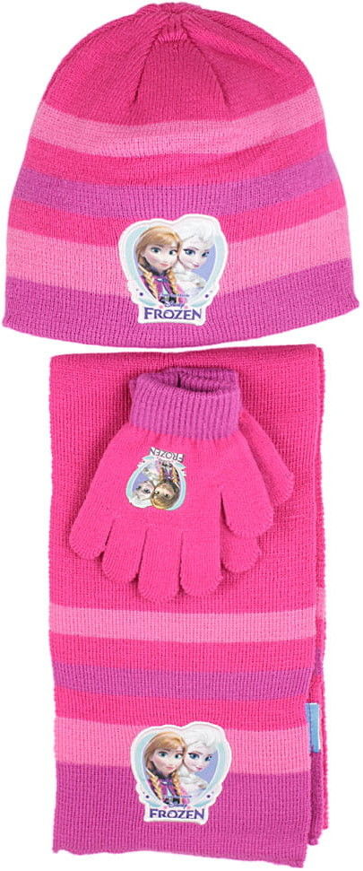 Komplet dziewczęcy czapka, rękawiczki i szalik KRAINA LODU