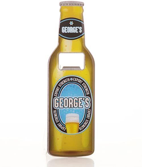 Boxer Gifts George otwieracz do butelek piwa ze stali nierdzewnej, wielokolorowy, 18,5 x 5,8 x 0,4 cm