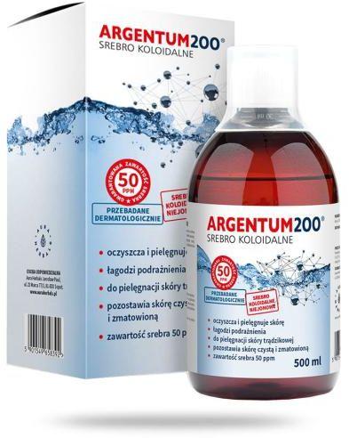 Aura Herbals Argentum200 Srebro Koloidalne 50 ppm tonik 500 ml