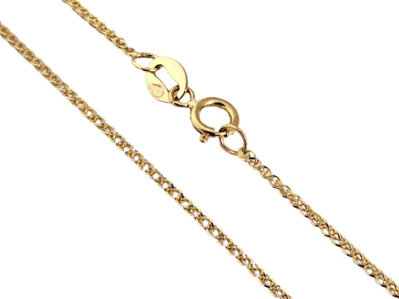 45cm Złoty łańcuszek 585 z białym złotem 1,11g