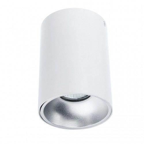 Plafon NERO biały/srebrny 1L C1255-1L WH/S Auhilon lampa sufitowa w odcieniu bieli
