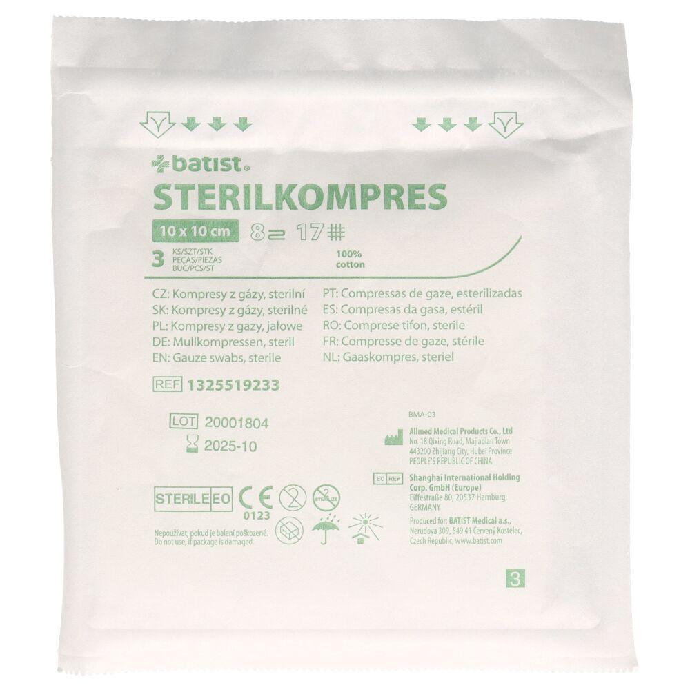 Kompres z gazy Sterilkompres, jałowy (3 szt. w opak.)