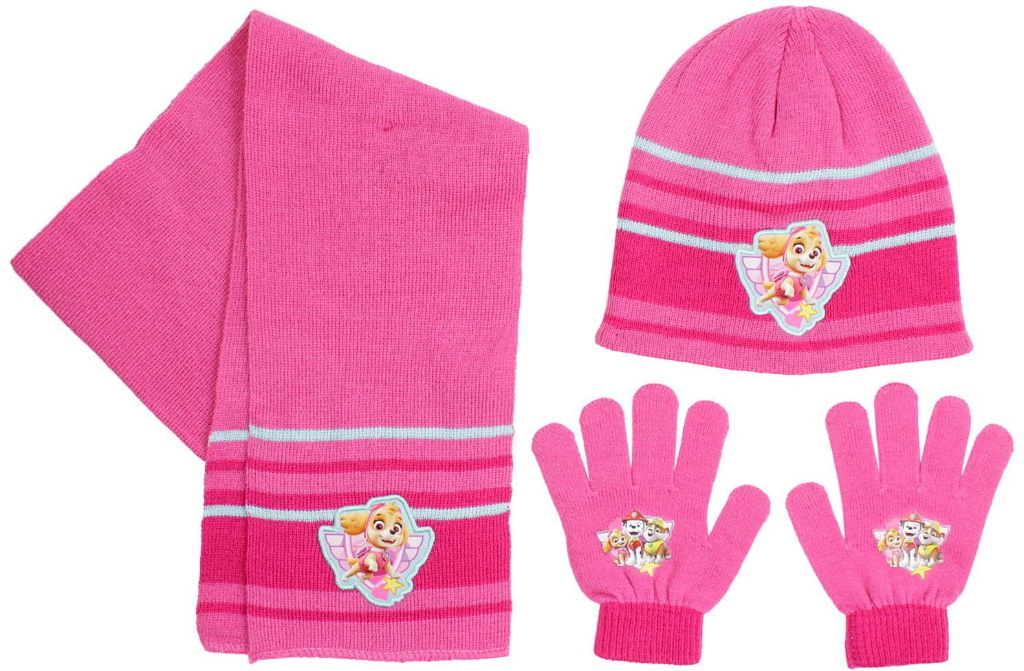 Komplet dziewczęcy czapka, rękawiczki i szalik PSI PATROL (Paw Patrol)