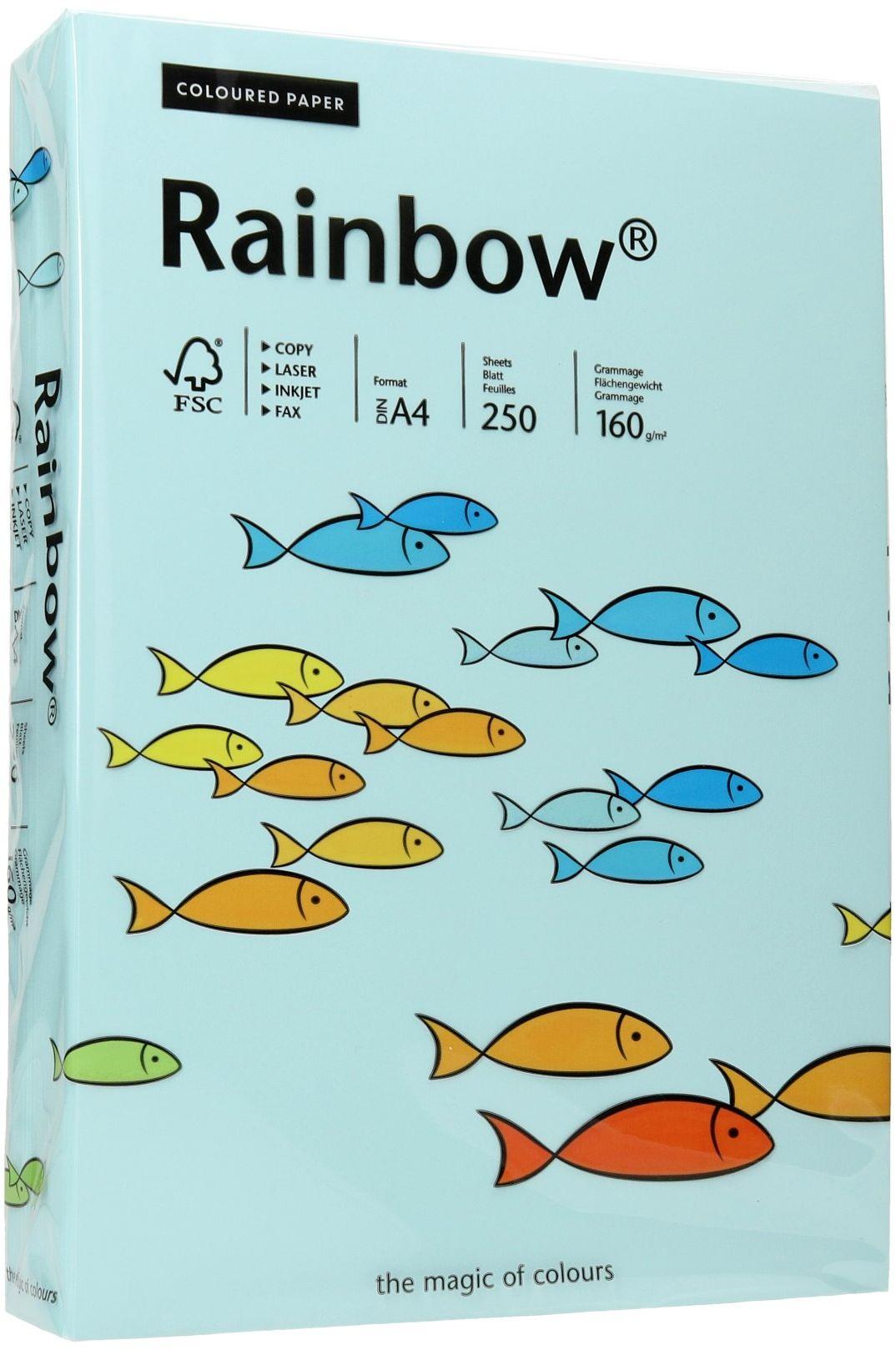 Papier ksero A4 160g jasnoniebieski Rainbow 82