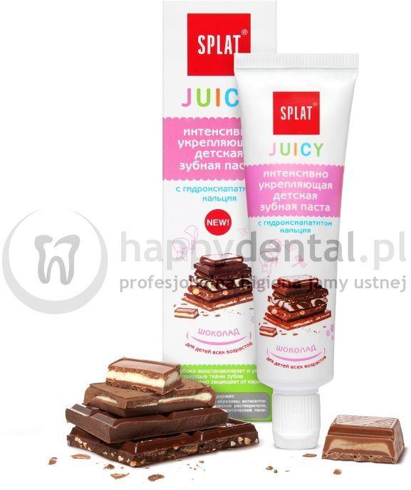 SPLAT JUICY CHOCOLATE 35ml - pasta wzmacniająca szkliwo z nano hydroksyapatytem o smaku pysznej czekolady