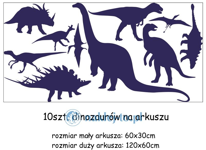 naklejki Dinozaury 2 zestaw naklejka na ścianę zestaw