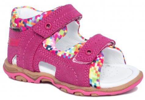 Bartek Baby 11848 /7 - V42 sandałki sandały profilaktyczne dla dzieci fuksja - piksele