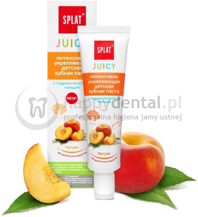 SPLAT JUICY PEACH 35ml - pasta wzmacniająca szkliwo z nano hydroksyapatytem o smaku słodkiej brzoskwini