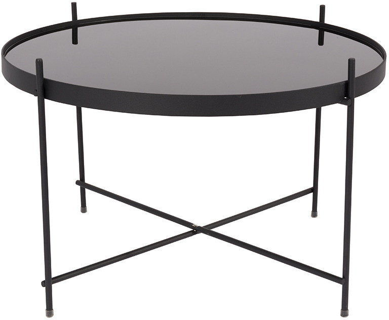 Stół CUPID LARGE BLACK 2300051 Zuiver okrągły czarny stolik w dużej wersji