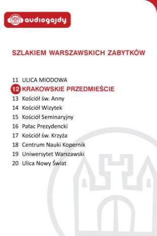 Krakowskie Przedmieście. Szlakiem warszawskich zabytków - Ebook.