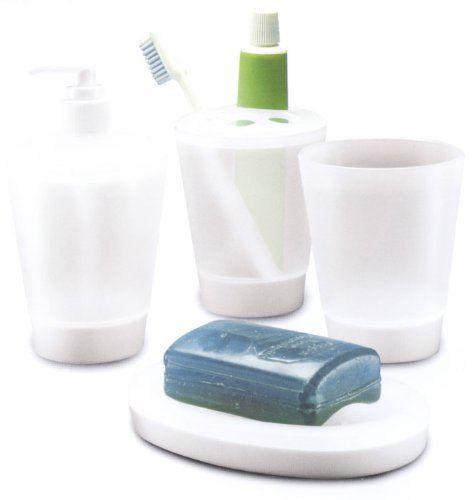 Juypal 4-częściowy zestaw akcesoriów łazienkowych, niebieski polipropylen, jeden rozmiar