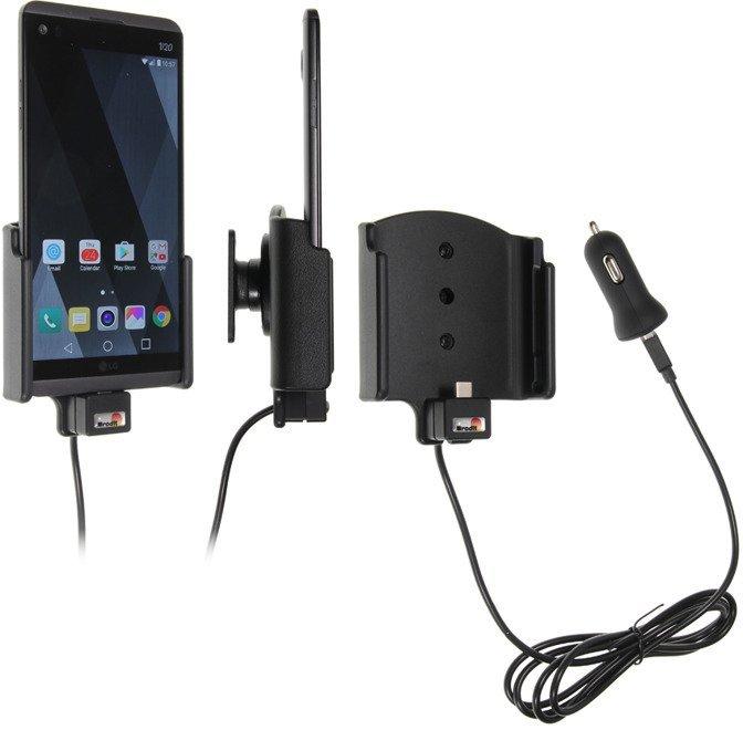 Uchwyt do LG V20 z wbudowanym kablem USB oraz ładowarką samochodową