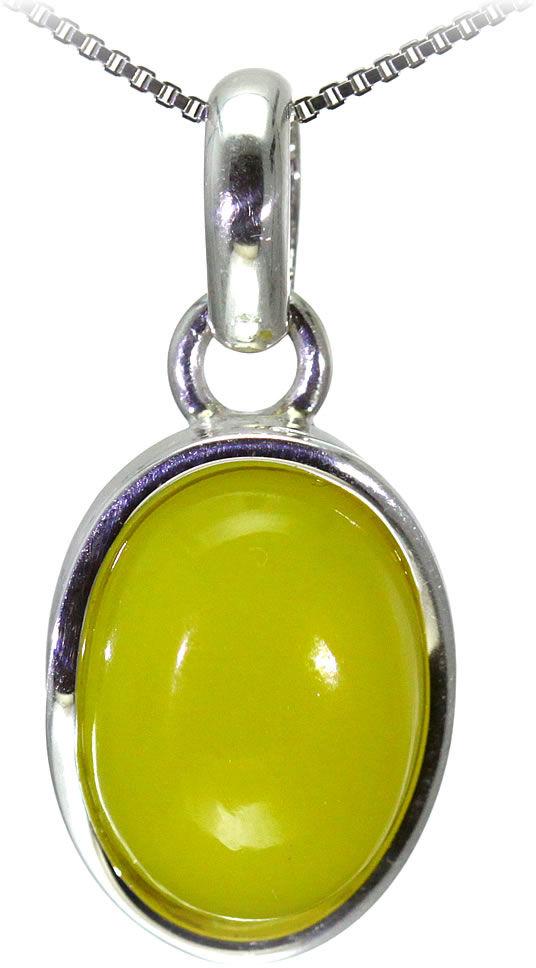 Kuźnia Srebra - Zawieszka srebrna, 34mm, Żółty Onyks, 7g, model