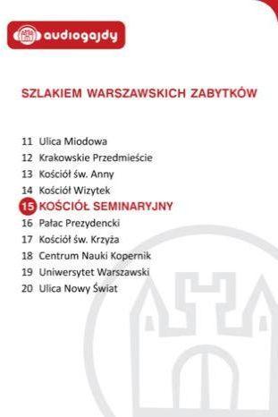 Kościół seminaryjny. Szlakiem warszawskich zabytków - Ebook.