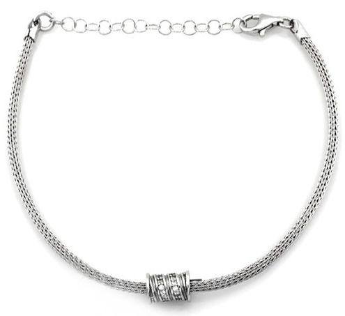 Srebrna bransoletka 925 elegancka gruby sznur