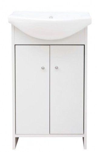 Zestaw : szafka 45x26x80 cm+ umywalka 50x40 cm, biały