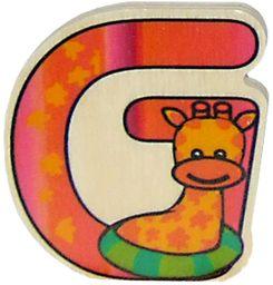 Hess Drewniana zabawka dla niemowląt z literą G, 6 cm, wielokolorowa