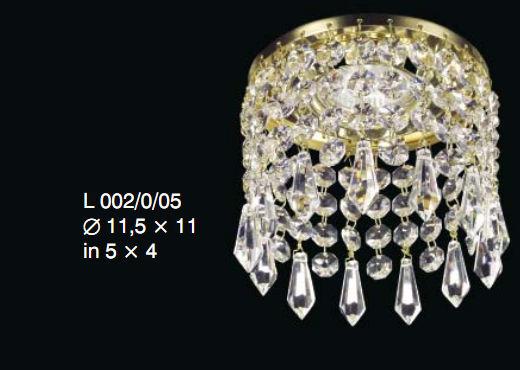 Oprawa halogenowa z kryształkami Swarovskiego - Elite Bohemia