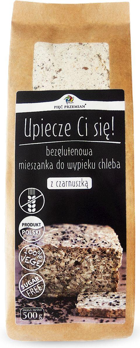 Mieszanka Chleba bezglutenowego z Czarnuszką 500g - Pięć Przemian