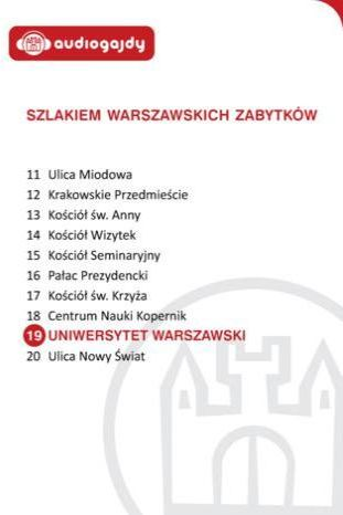 Uniwersytet Warszawski. Szlakiem warszawskich zabytków - Ebook.