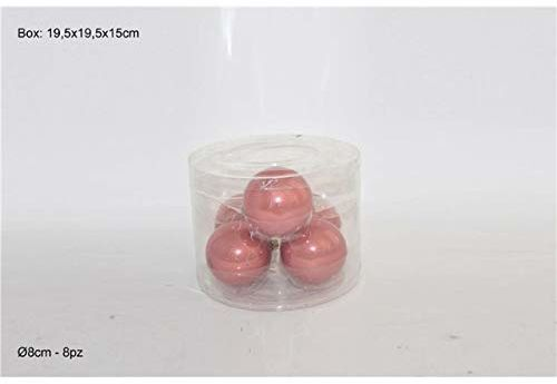 Dwa żelazo, perlaty antyczne różowe, 8 cm, 8 sztuk