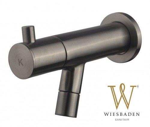Baterie/zawór na zimną wodę ścienna 12,5 cm Gunmetal AMADOR