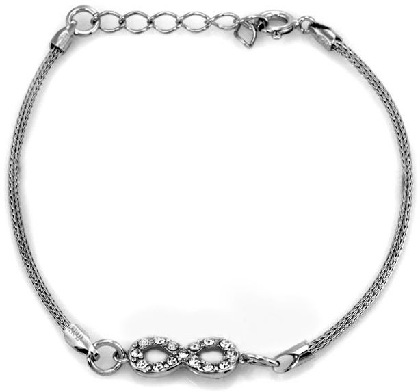 Srebrna bransoletka 925 INFINITY z cyrkoniami