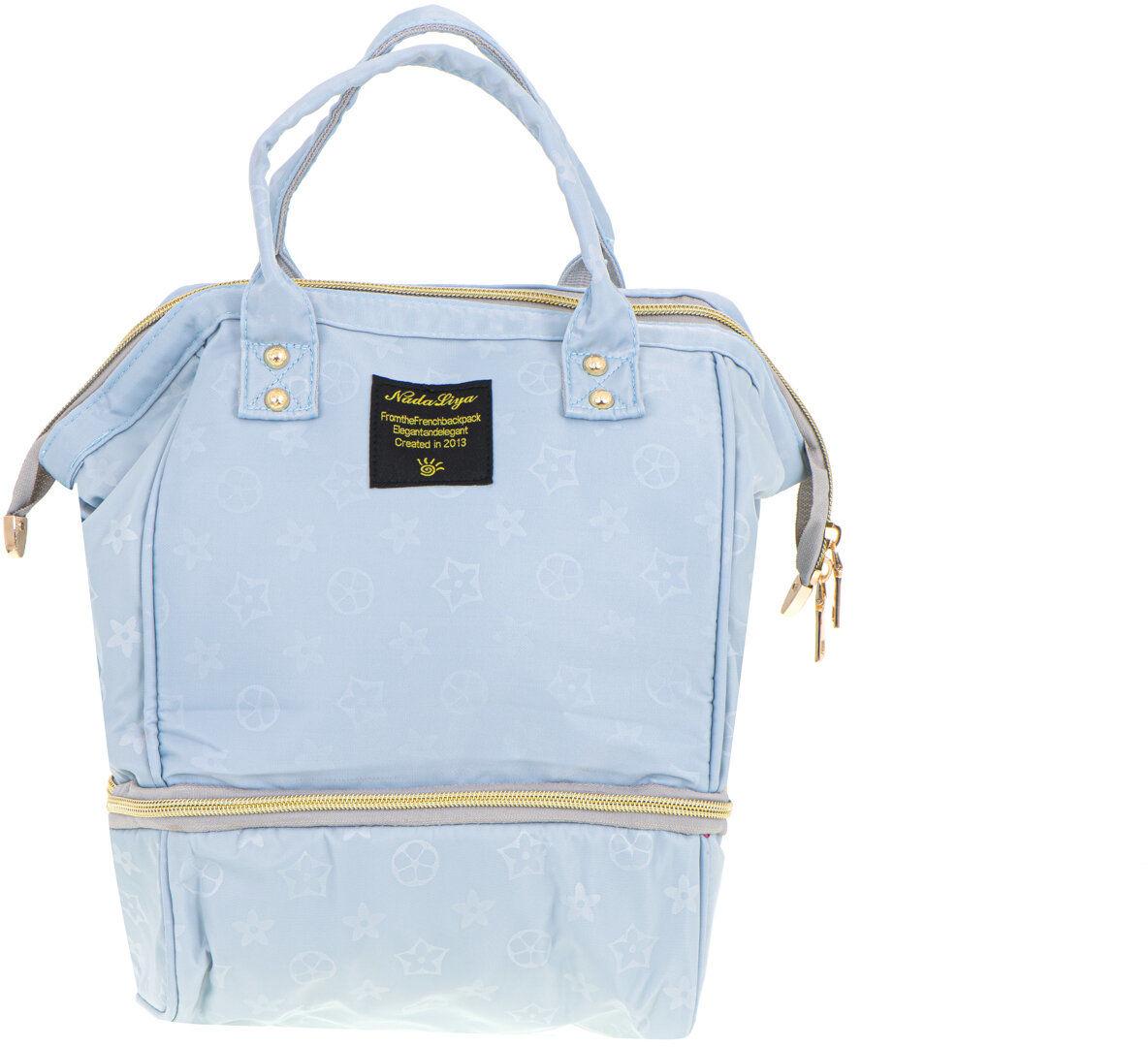 Torba na pieluchy plecak i butelki dla niemowląt błękitna