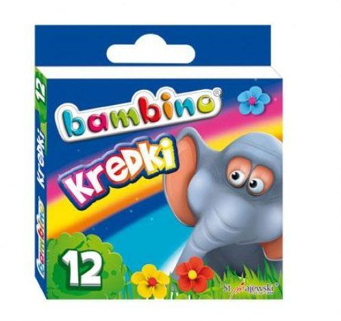 Kredki BAMBINO świecowe 12 kolorów- kartonowe opak. FO-20099