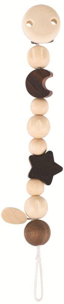 Drewniany łańcuszek do smoczka z klipsem Natura Nocne niebo 733700-Heimess Nature, prezent dla niemowlaka
