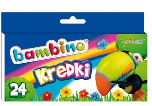 Kredki BAMBINO świecowe 24 kolory - kartonowe opak.FO-20097