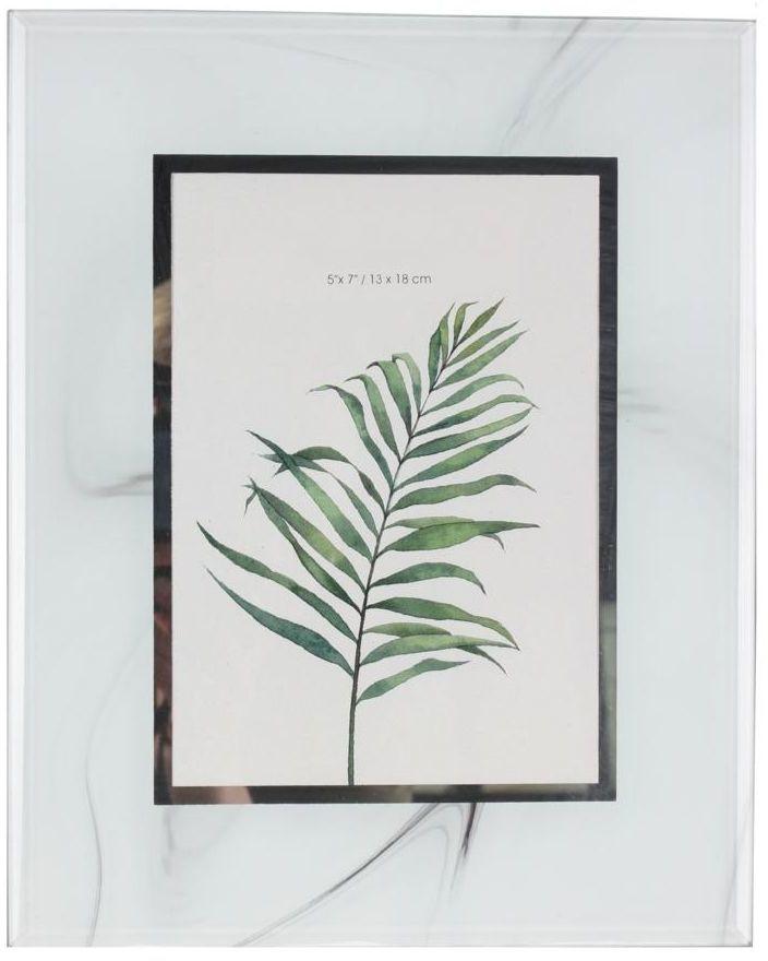 Ramka szklana na zdjęcia Inko biała 13 x 18 cm