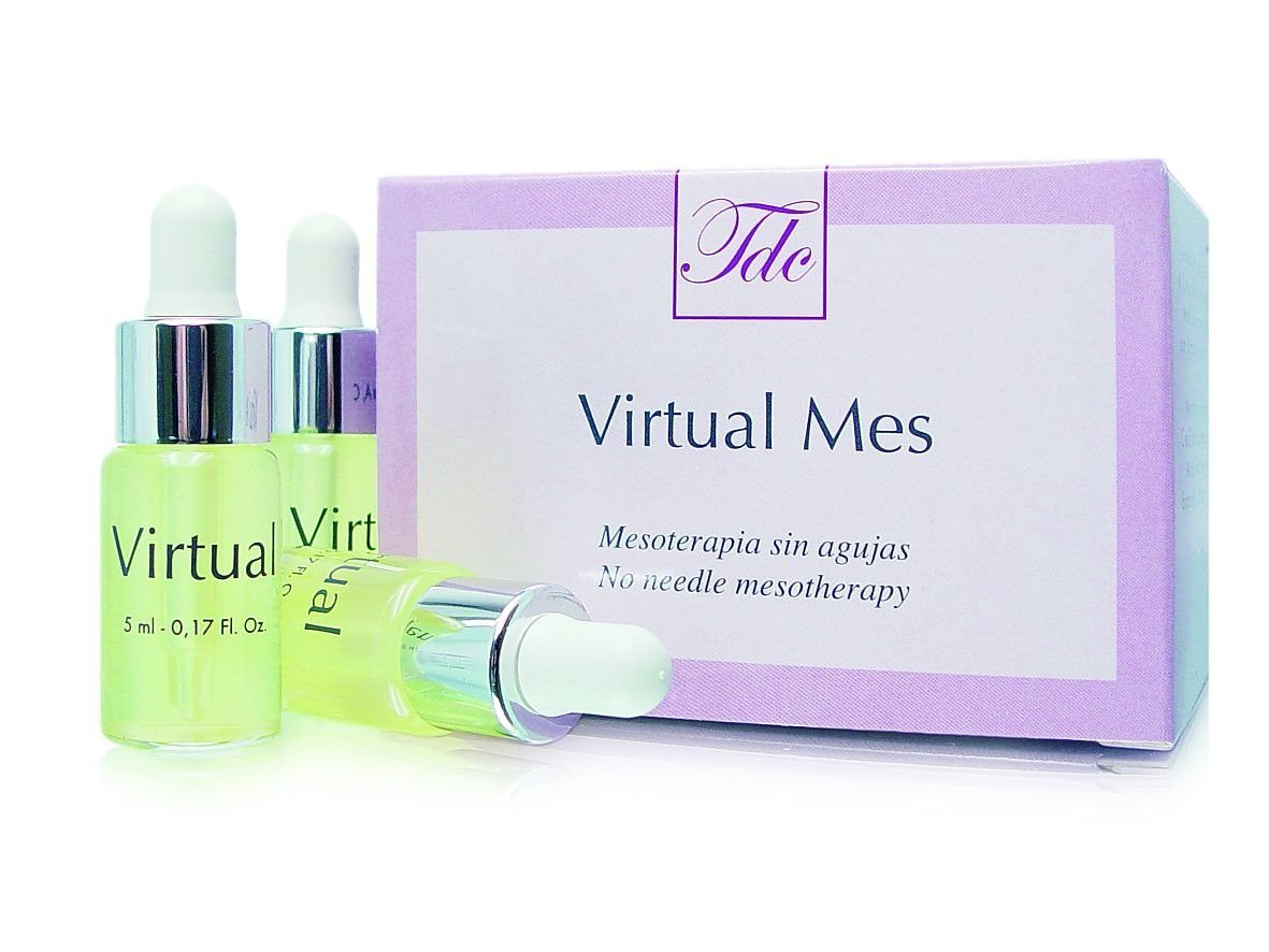 VIRTUAL MES Liftingująca ampułka do mezoterapii mikroigłowej/bezigłowej do twarzy 5ml do skóry zwiotczałej, obwisłej, efekt odmłodzenia
