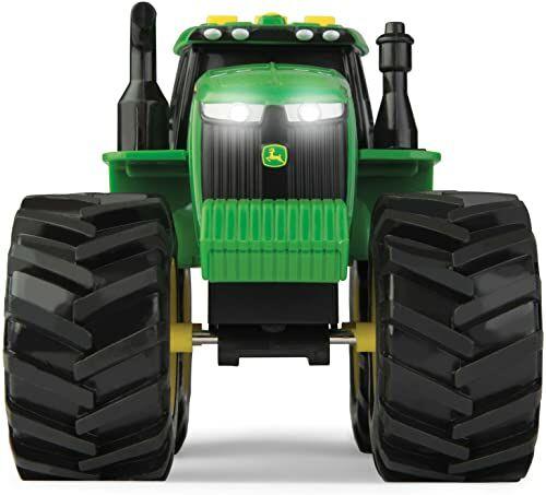 John Deere Monster światła i dźwięki traktor zabawka Zabawka Monster Truck z realistycznym światłem i efektami dźwiękowymi zielone zabawki dla dzieci, chłopców i dziewcząt 3, 4, 5+ lat