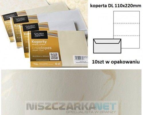 Koperta / koperty ozdobne DL - Wiatr biały - opk 10szt/120g