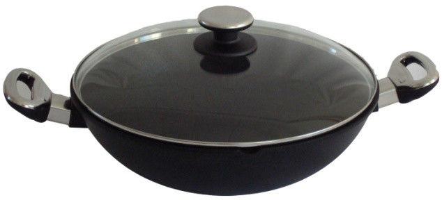 Patelnia Wok tyatnowy 32 cm z pokrywą, 4 litry - BAF