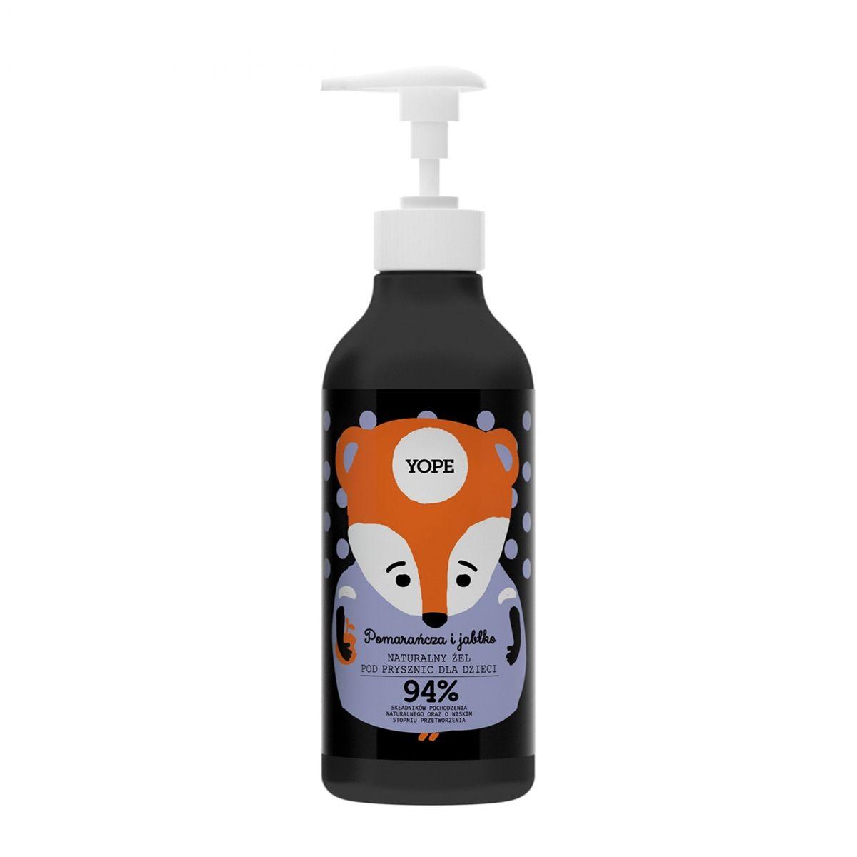 Naturalny Żel pod Prysznic dla Dzieci - Pomarańcza i Jabłko - 400ml - Yope