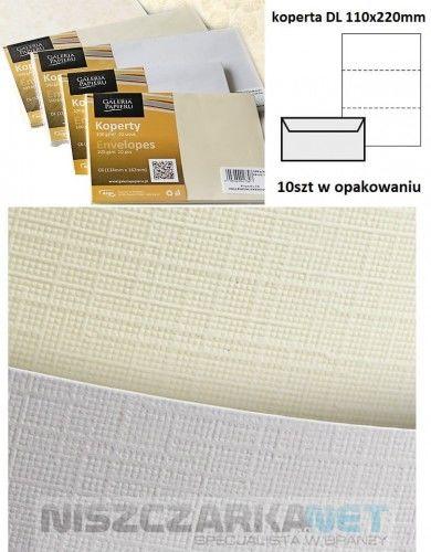 Koperta / koperty ozdobne DL - Holland biały - opk 10szt/100g
