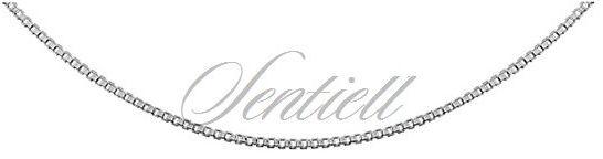 Łańcuszek ozdobny srebrny pr. 925 kostka wenecka, diamentowana ø 010 - rodowana - rodowanie