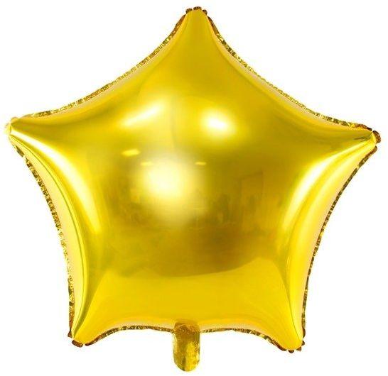 Balon foliowy złota Gwiazdka 48cm 1 sztuka FB3M-019