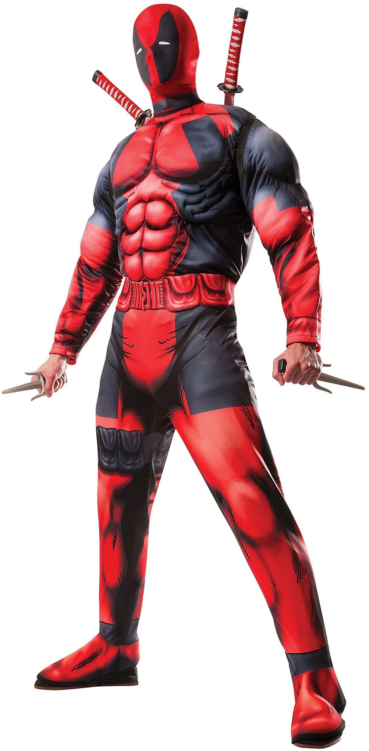 Rubie''s 3810109 Marvel Deadpool Kostium dla Dorosłych Czerwono/Czarny, STD